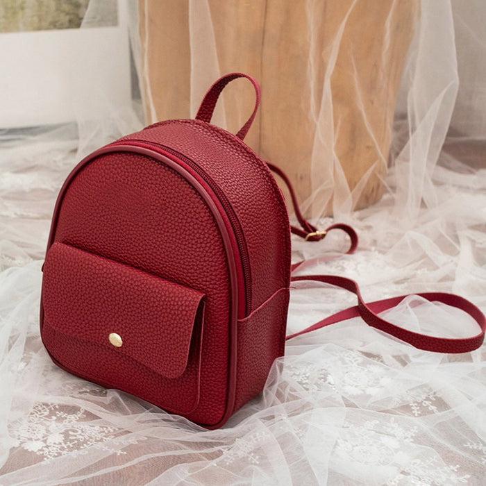 Fashion Women Shoulders Small Backpack Letter Purse Mobile Phone Simple Ladies Travel Bag Student School Backpacks