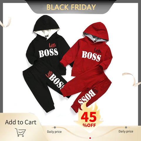 HIPAC 2PCS Boys Outfits Baby Boy Clothes For Kids Clothing Toddler Child Jogging Garcon Casual Sports Suit Children Kid Suits