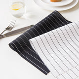 4pcs/set Modern Table Mat PVC Dining Table Heat-resistant Placemat Bowl Pad Coasters Slip-resistant Tablemat Black/White