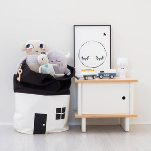 2018 INS Explosion Large Capacity Cute House Storage Bag Children Kids Baby Pure Cotton Canvas Toys Beam Port Pouch Organizador