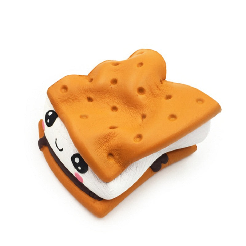 Cartoon Chocolate Biscuit Squishies