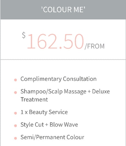 """Colour Me"" Colour service bundle Package Voucher"
