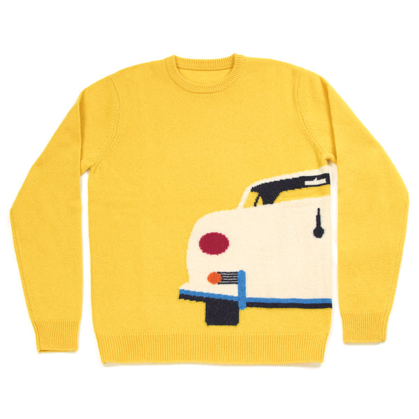 Yellow Car Sweater