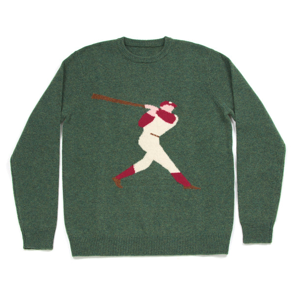 Green Baseball Sweater