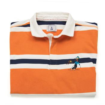 Orange Rugby Shirt Ski
