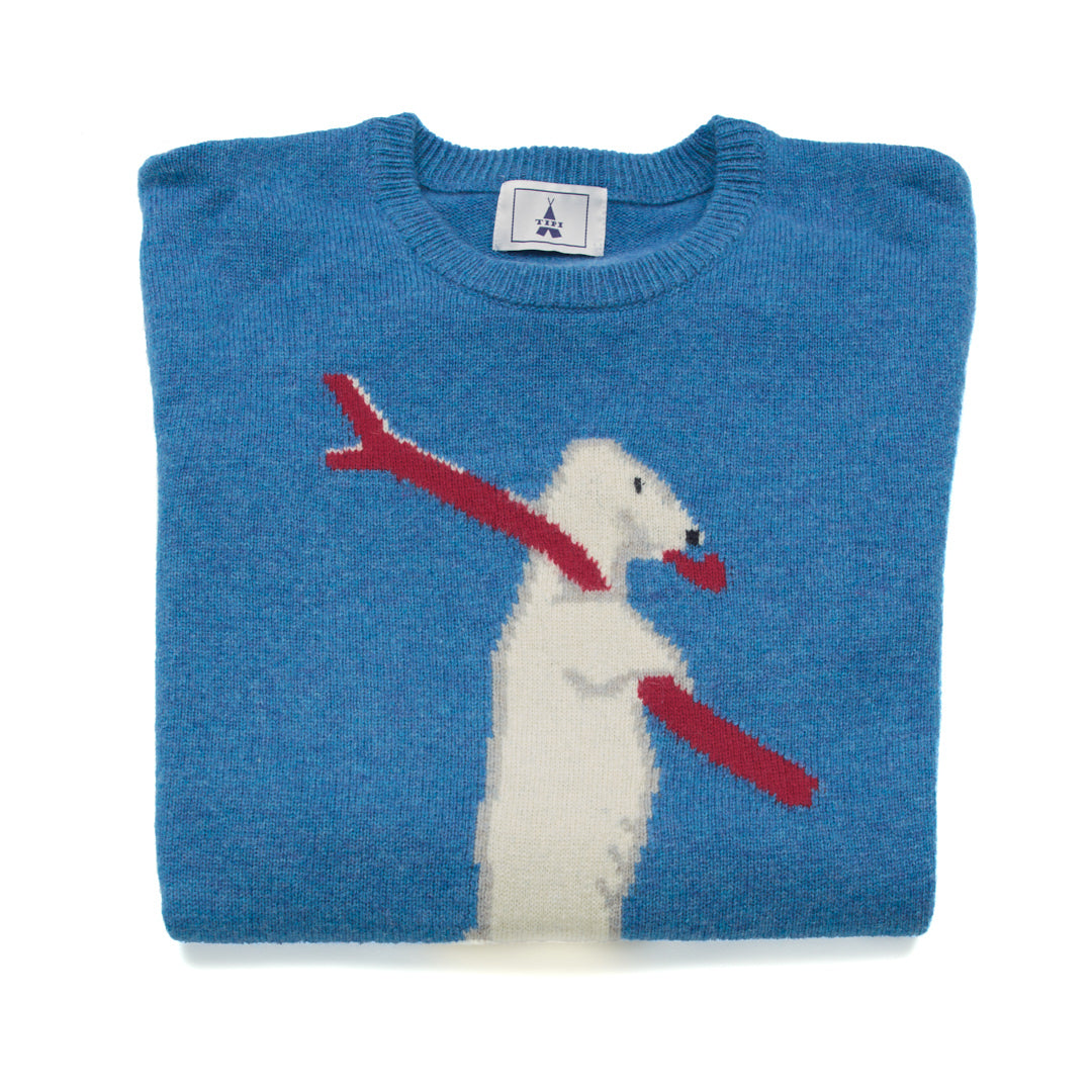 Blue Bear Sweater