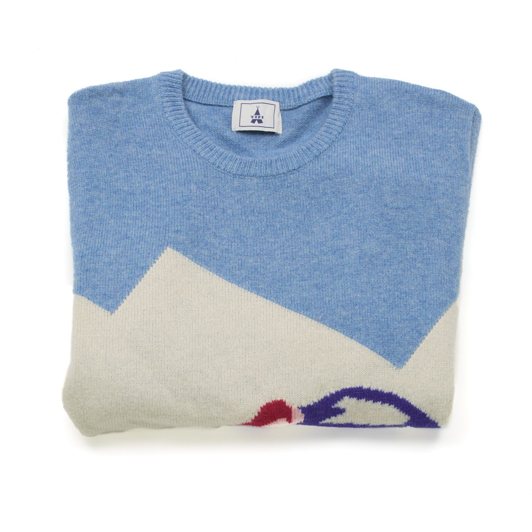 Light Blue Ski Sweater