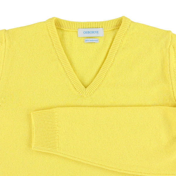 "Woman lambswool V neck ""Daffodil"""