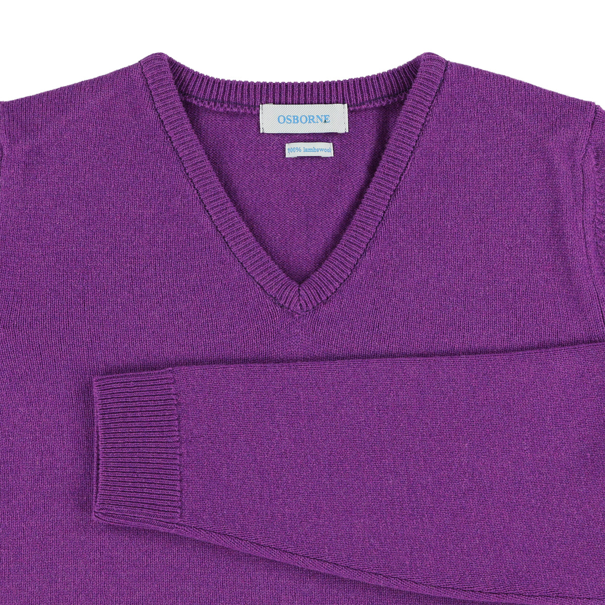 "Woman lambswool V neck ""Foxglove"""