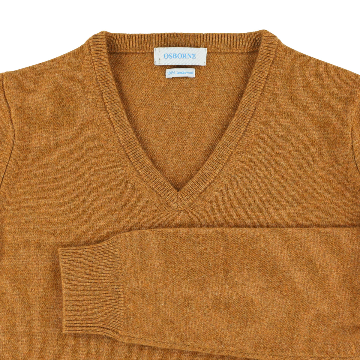 "Woman lambswool V neck ""Gazelle"""