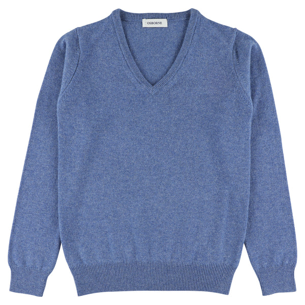 "Woman lambswool V neck ""Jeans"""
