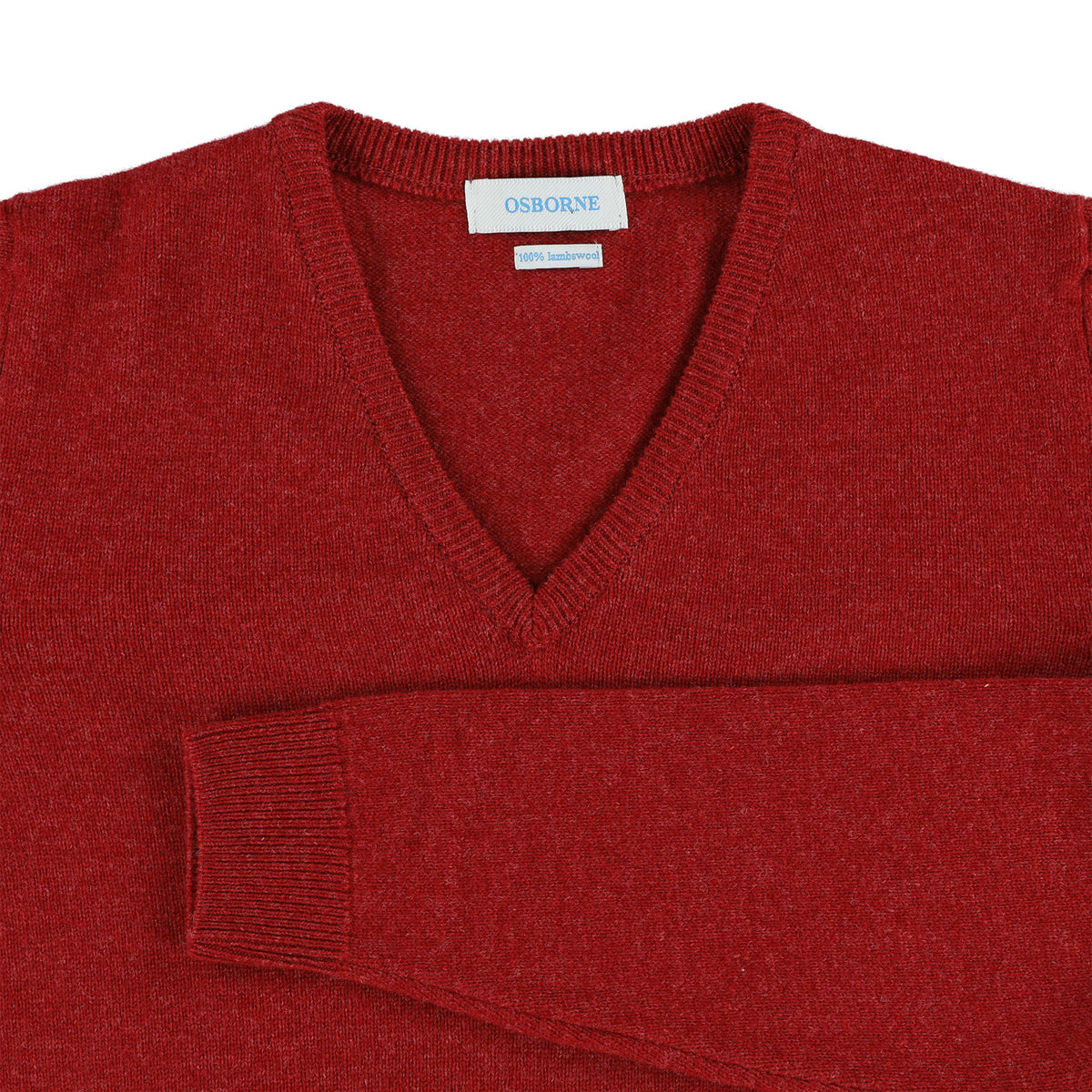 "Woman lambswool V neck ""Poppy Melange"""