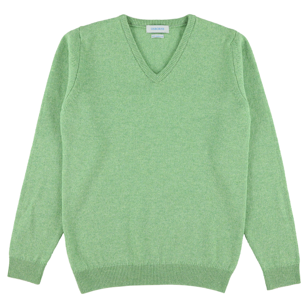 "Woman lambswool V neck ""Springtime"""