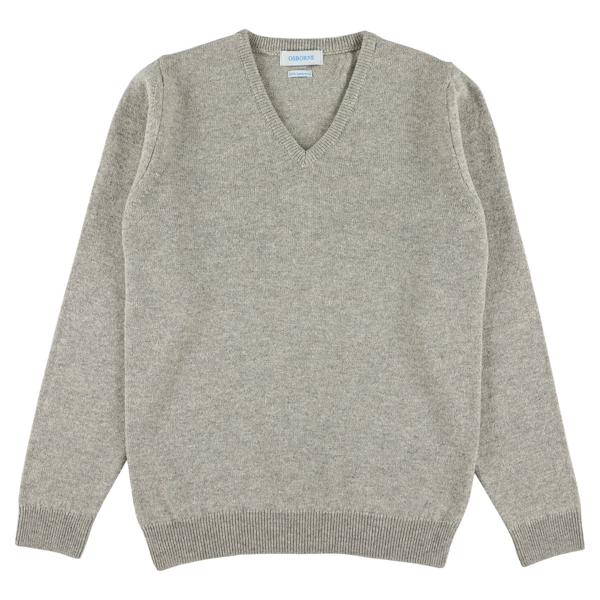 "Woman lambswool V neck ""Cobble"""