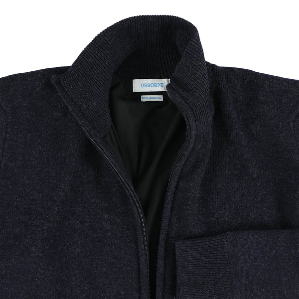 "Woman windstopper zip cardigan ""Indigo Melange"""