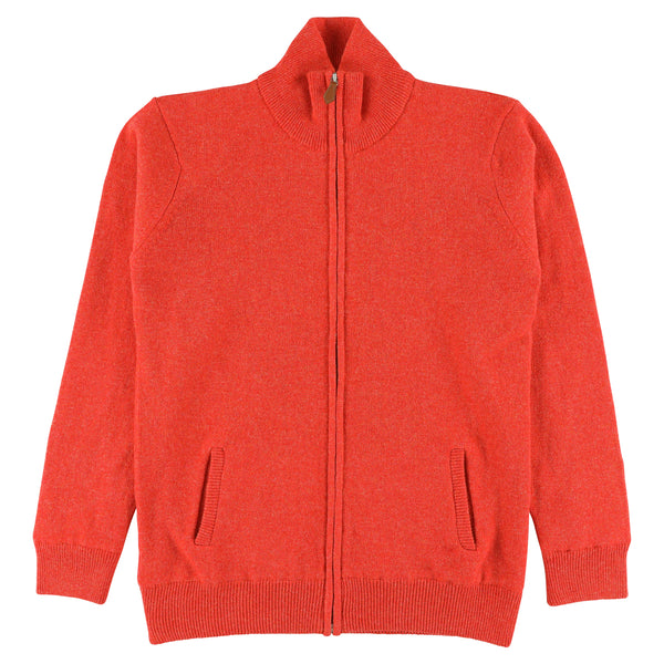 "Woman windstopper zip cardigan ""Inferno"""