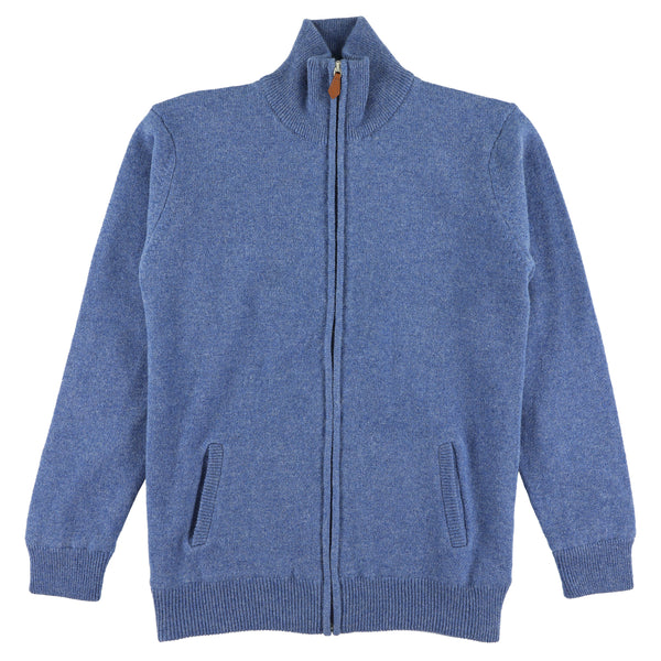 "Woman windstopper zip cardigan ""Jeans"""