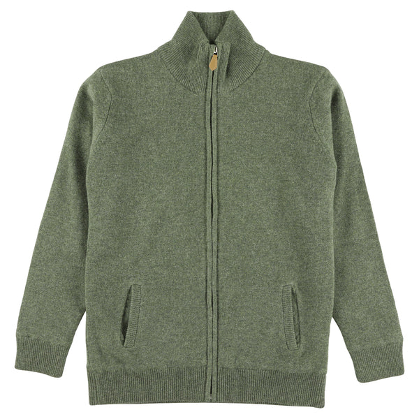 "Woman windstopper zip cardigan ""Landscape"""