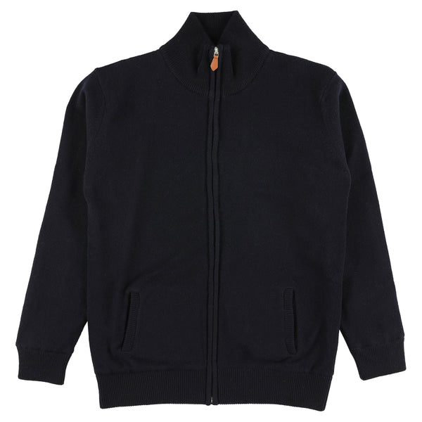 "Woman windstopper zip cardigan ""Navy"""