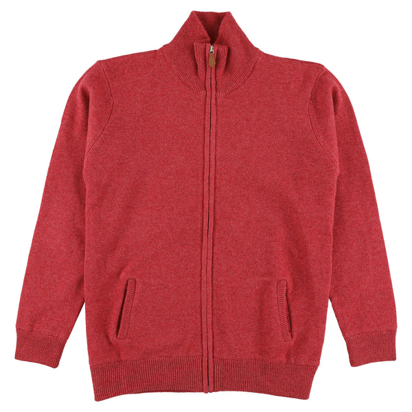 "Woman windstopper zip cardigan ""Rouge"""