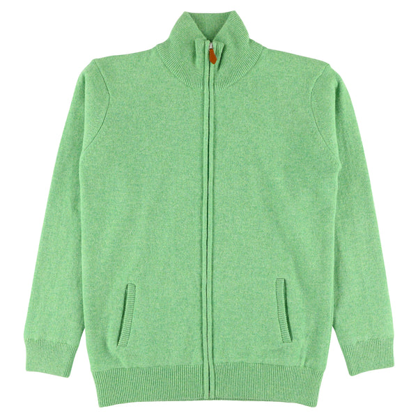 "Woman windstopper zip cardigan ""Springtime"""