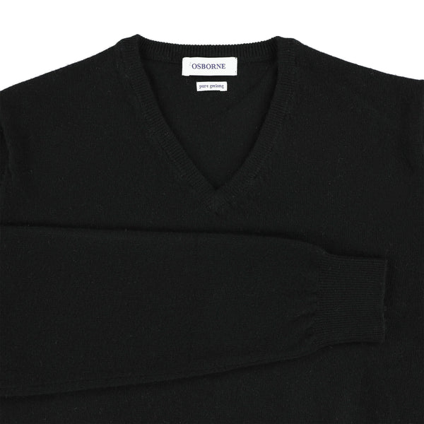 "Geelong V neck ""Black"""
