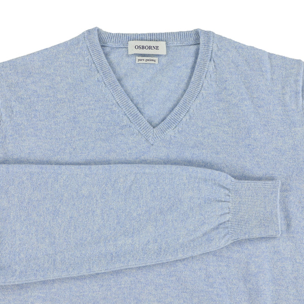 "Geelong V neck ""Glacier"""