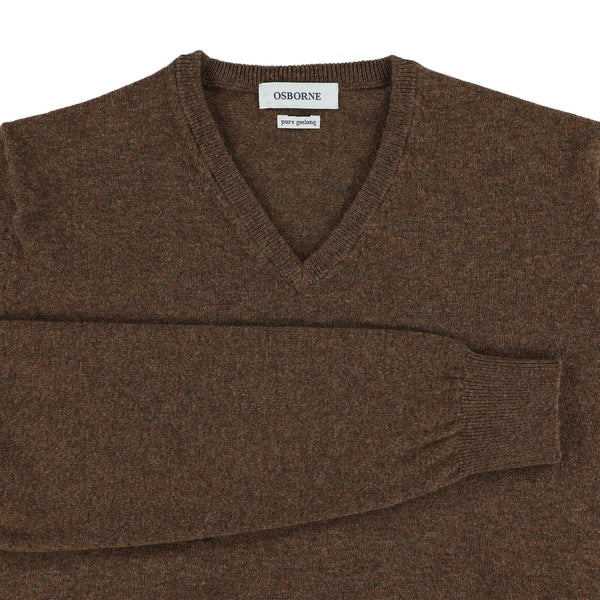 "Geelong V neck ""Mahogany"""