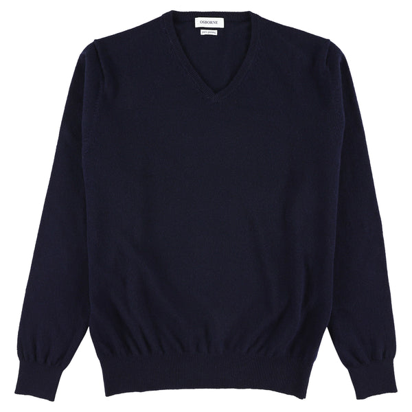 "Geelong V neck ""Navy"""