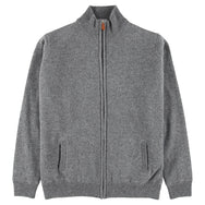 "Windstopper zip cardigan ""Grey Mix"""