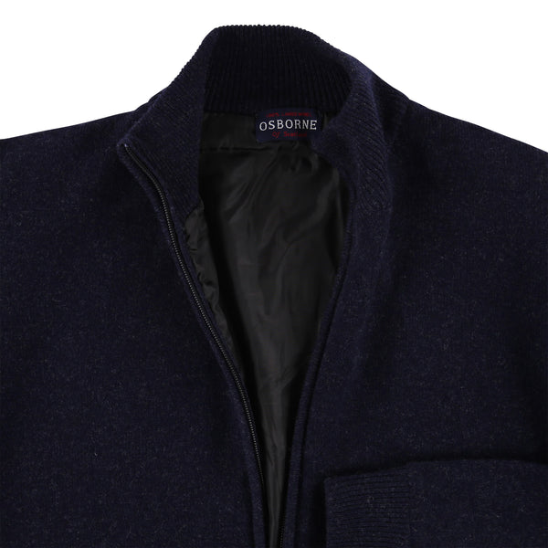 "Windstopper zip cardigan ""Indigo Melange"""