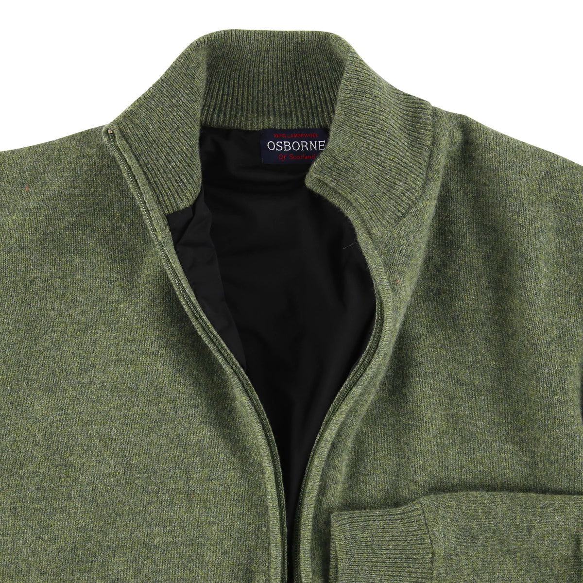"Windstopper zip cardigan ""Landscape"""
