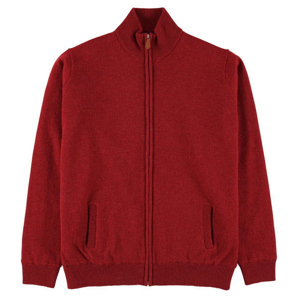 "Windstopper zip cardigan ""Poppy Melange"""