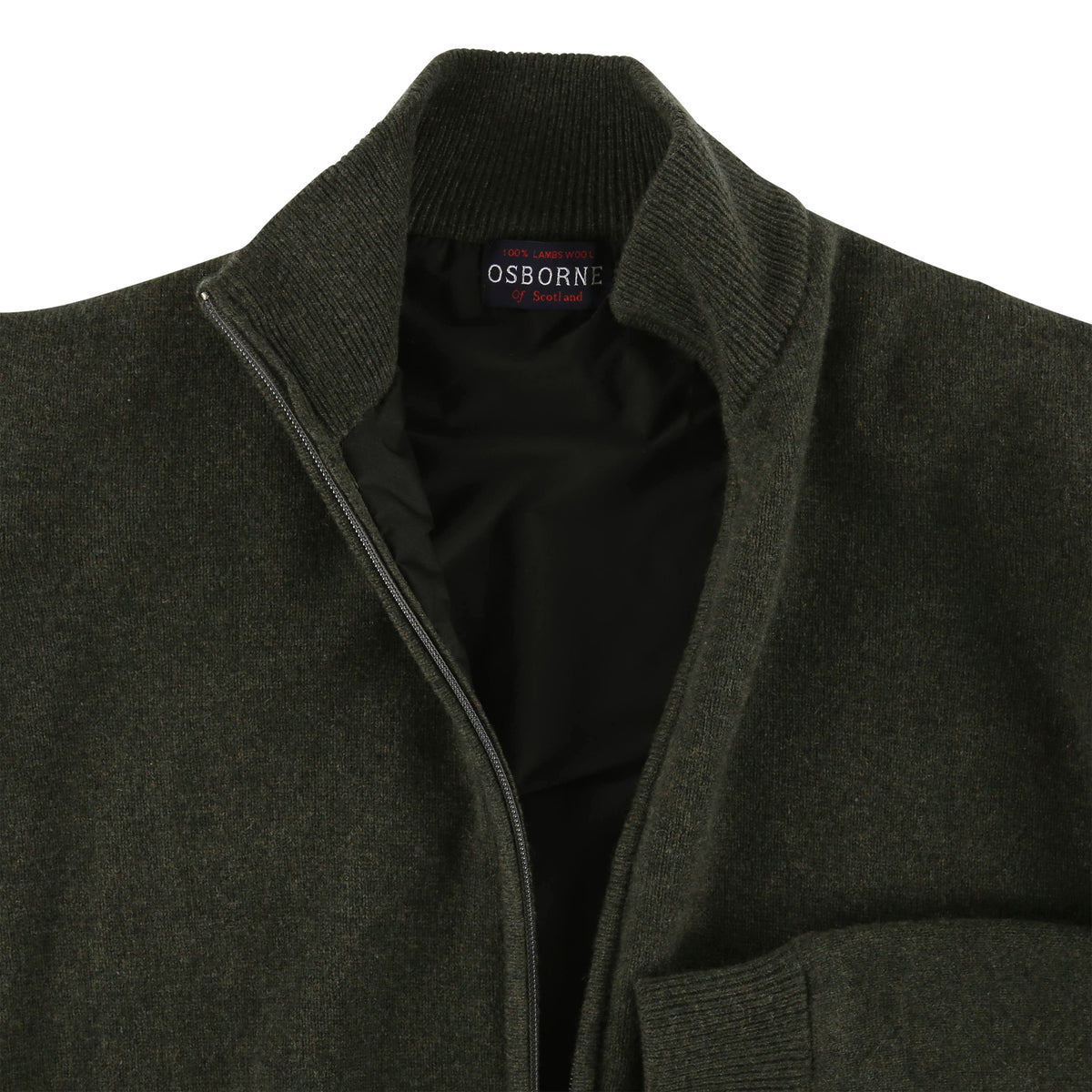 "Windstopper zip cardigan ""Seaweed"""