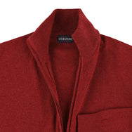"Lambswool zip cardigan ""Poppy melange"""