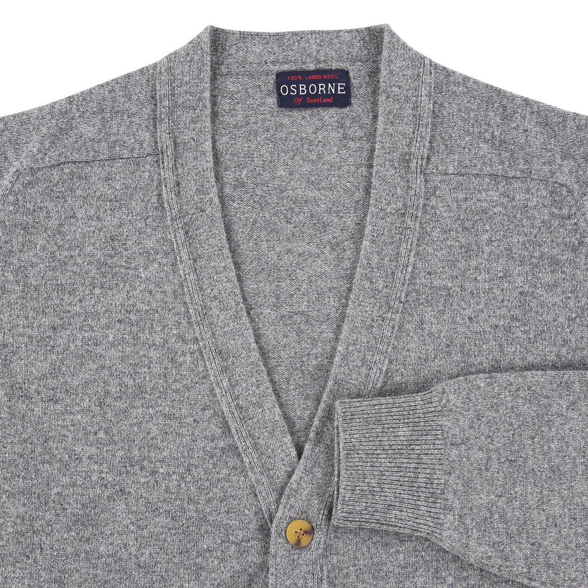 "Lambswool cardigan ""Grey Mix"""