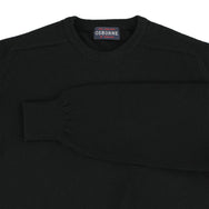 "Lambswool crew neck ""Black"""