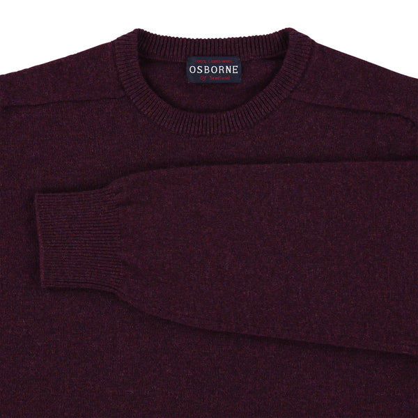 "Lambswool crew neck ""Black Grape"""