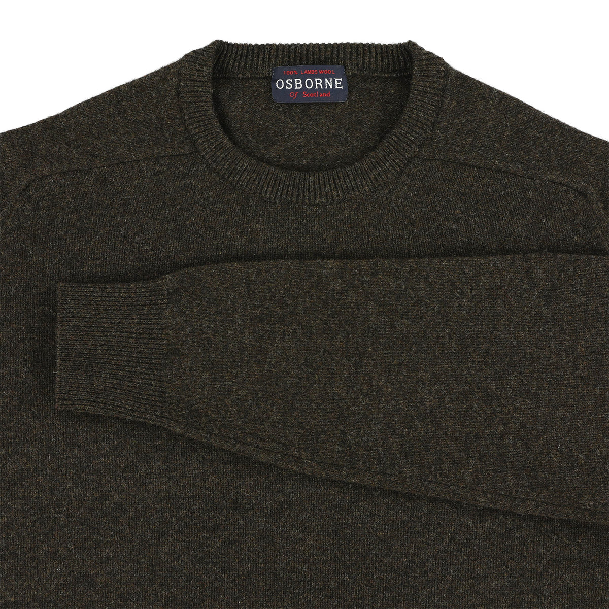 "Lambswool crew neck ""Cocoa"""