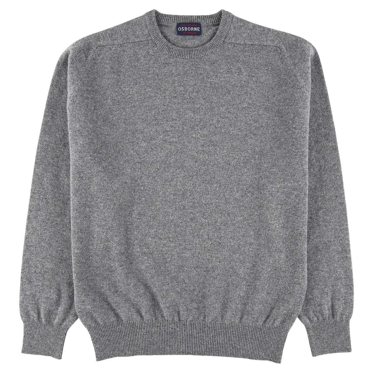 "Lambswool crew neck ""Grey Mix"""