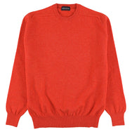 "Lambswool crew neck ""Inferno"""