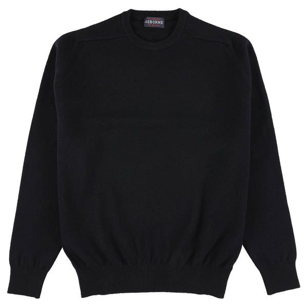 "Lambswool crew neck ""Navy"""