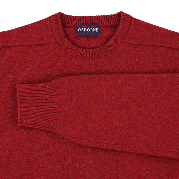 "Lambswool crew neck ""Poppy Melange"""