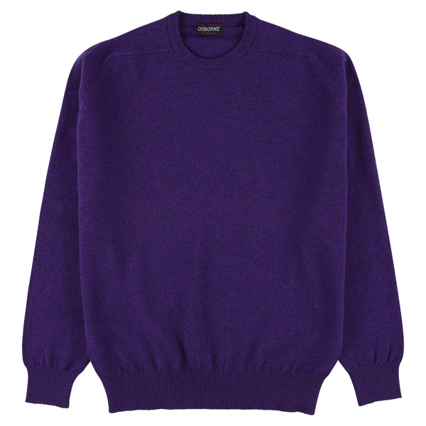 "Lambswool crew neck ""Prune"""
