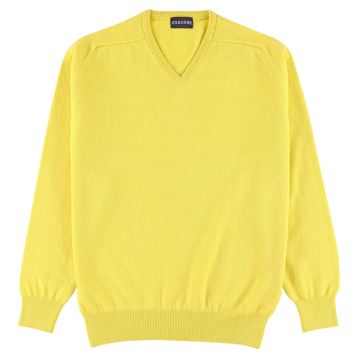 "Lambswool V neck ""Daffodil"""