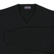 "Lambswool V neck ""Black"""