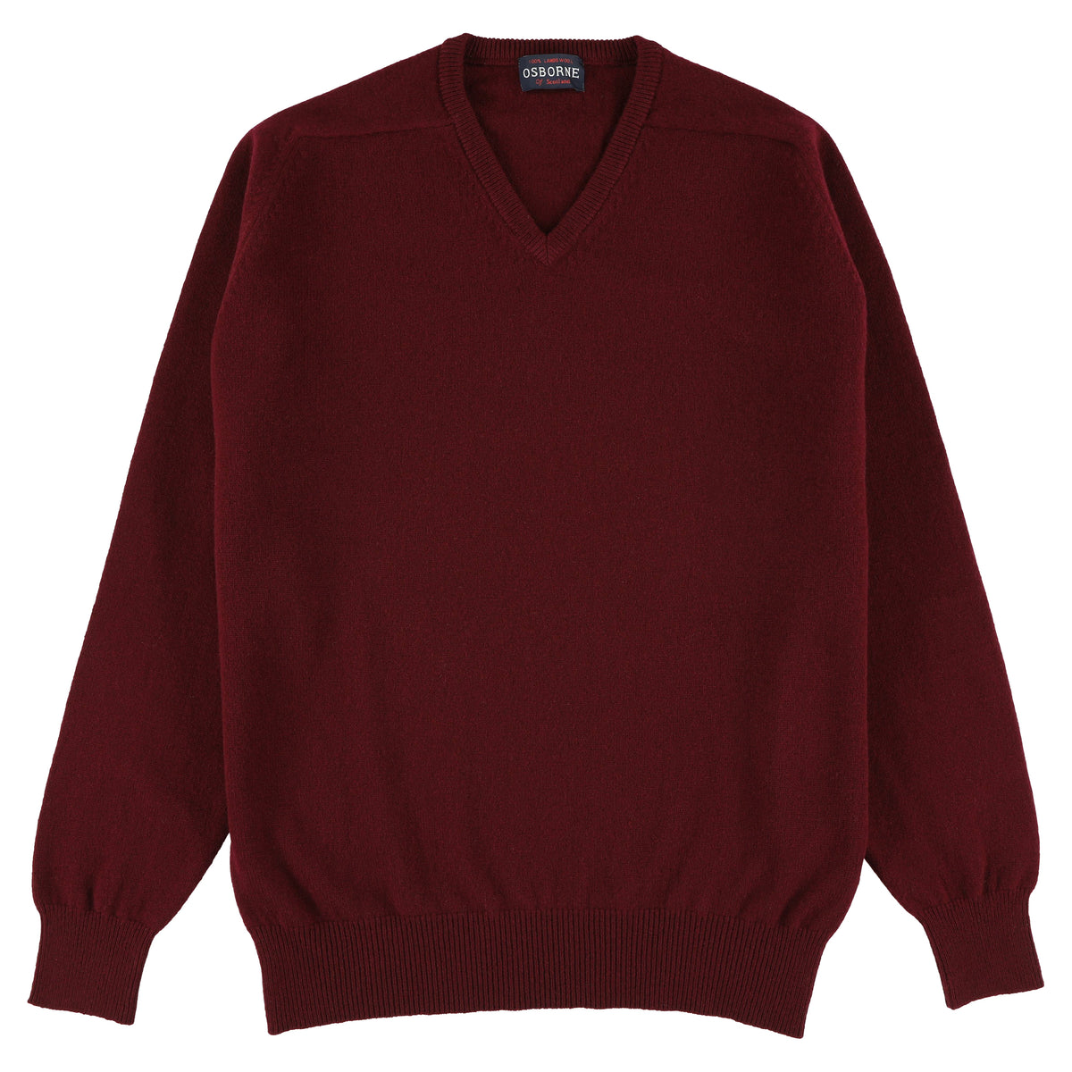 "Lambswool V neck ""Bordeaux"""