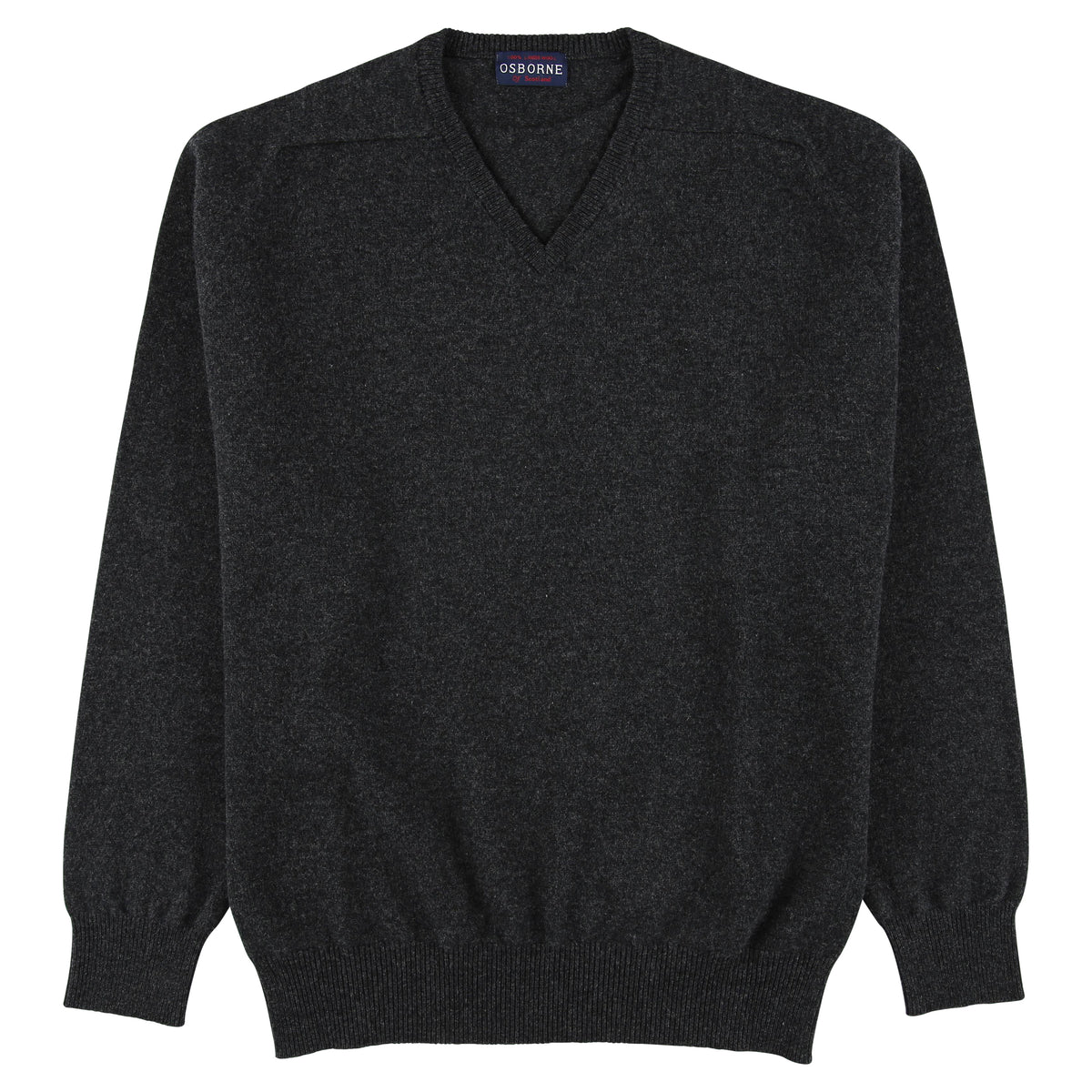 "Lambswool V neck ""Charcoal"""