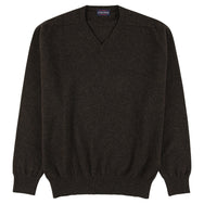 "Lambswool V neck ""Cocoa"""
