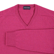 "Lambswool V neck ""Damask"""
